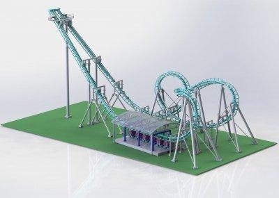 Modell der Achterbahn.