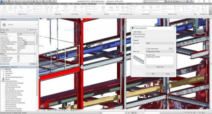 PointSense for Revit 18.5 Bildausschnitt.