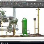 Screenshot eines mit PointSense Plant for AutoCAD 18.5 bearbeiteten Modells.