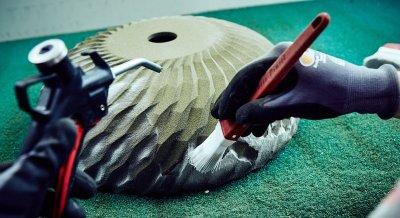 Reinigung der 3D-gedruckten Form.