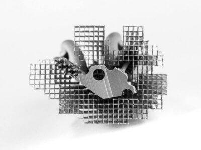 Teil aus Stahl aus dem 3D-Druck
