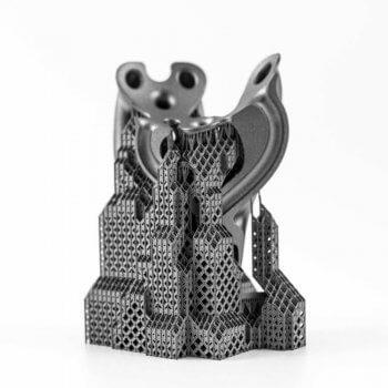 Stützstrukturen bei 3D-Druckobjekt aus Titan