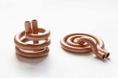 3D-gedruckte Kupferindikatoren.
