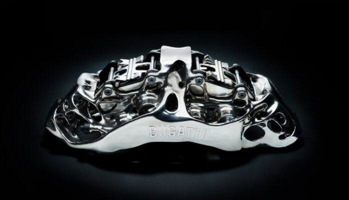 Bremssattel aus Titan aus den 3D-Drucker
