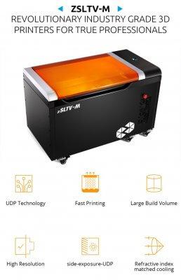 UNIZ zSLTV-M 3D-Drucker für industriellen Einsatz.