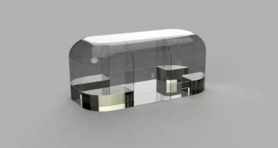 CAD-Modell des Wohnwagens