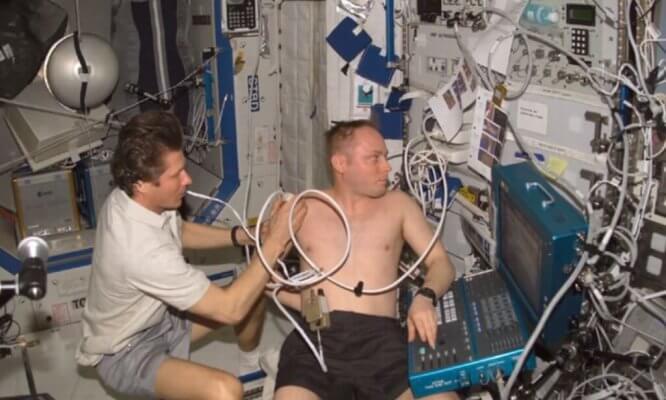 Medizinische Untersuchung von Astronauten