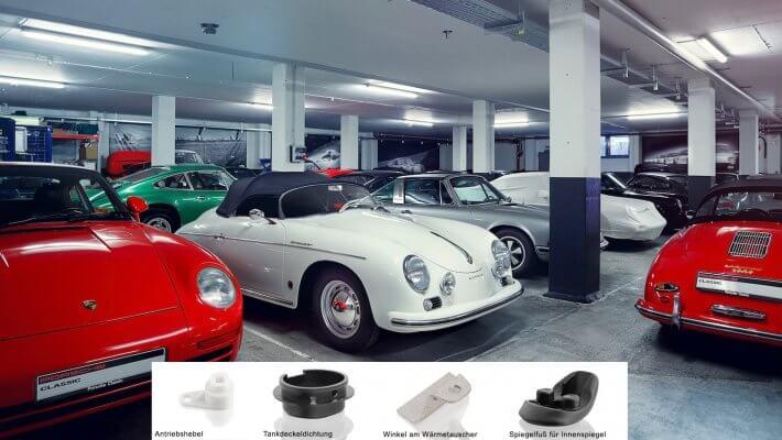 Fahrzeugteile beim Porsche aus dem 3D-Drucker