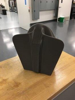 Komponente aus 3D-Drucker für Schlitten von Olympia-Team USA