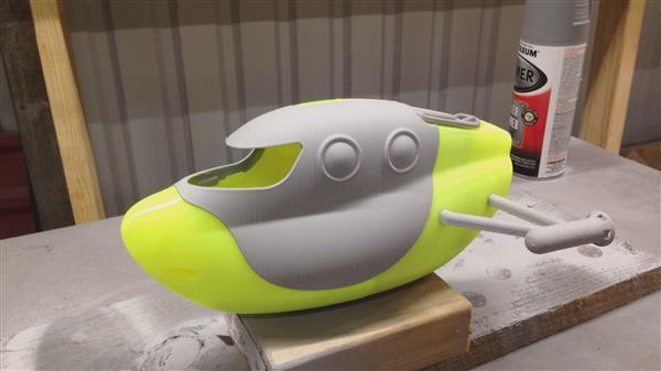 eine Woche Arbeit für den 3D-Druck