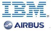 Logo Airbus und IBM