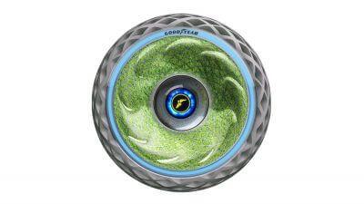 Bemooster Reifen Goodyear produziert Sauerstoff