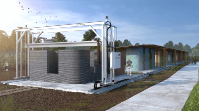 Vulcan 3D-Drucker für Häuser von ICON