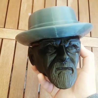 Kopf von Heisenberg aus dem 3D-Drucker