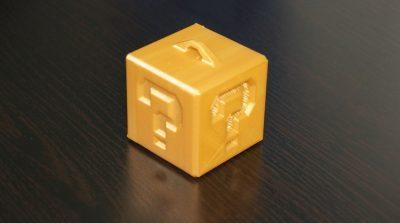 Würfel aus dem 3D-Ducker