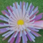 Blume aus dem 4D-Drucker