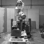 Roboter, der beim Druck zum Einsatz kommt
