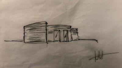 Konzeptskizzen des geplanten Hauses