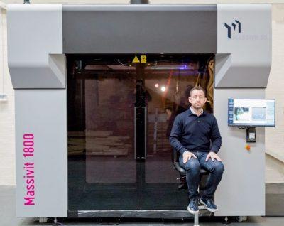 Massivit 1800 3D Drucker nach Installation bei Andesign