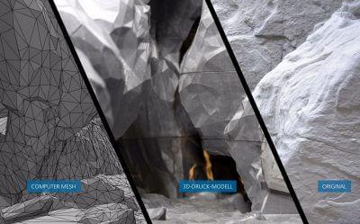 Unterschied zw. Original und 3D-Modell im Vergleich