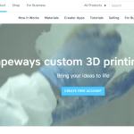 Screenshot Shapeways Webseite