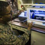 Sgt. Adrian Willis und ein 3D-Drucker