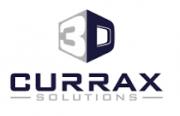 """Schriftzug """"3D Currax Solutions"""" in schwarz weiß"""