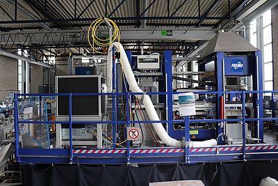 Abbildung einer bestehenden Anlagetechnik, in die der Laserscanner integriert wird