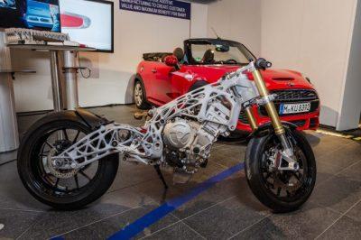 Abbildung Motorradrahmen aus dem 3D-Drucker Komplettansicht