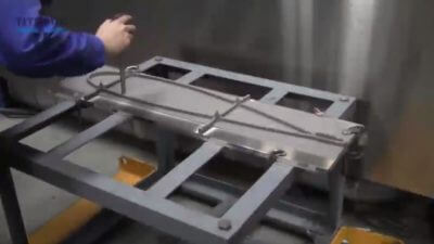 Großes Metallobjekt aus dem 3D-Drucker
