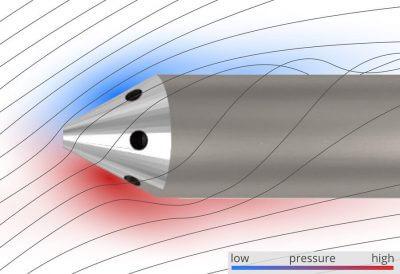 Abbildung einer Sondenspitze