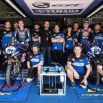 Das Team von Mark One und das GRT Yamaha Official Team WorldSSP Motorsportteam