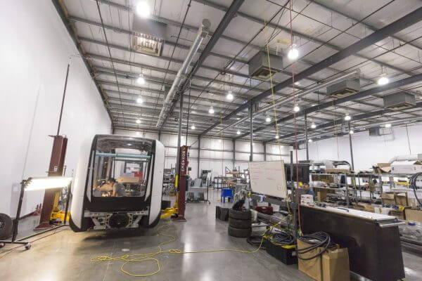 ein Olli-Bus in der Produktionsstätte