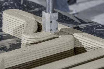 3D-gedruckter Beton