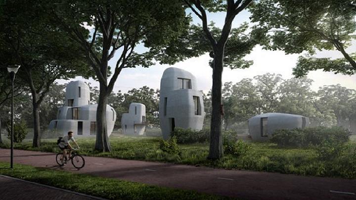 3D-Druck-Beton-Häuser
