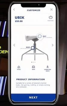 Darstellung des Stuhls auf einer IKEA Internetseite