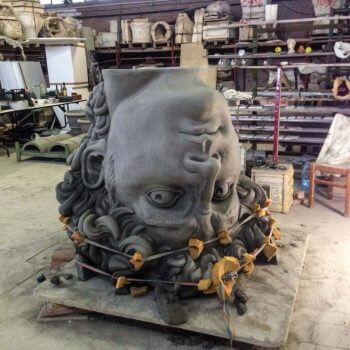 Bild von der Skulptur während der Herstellung
