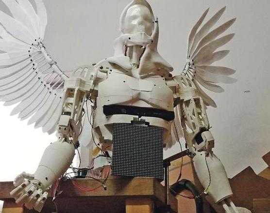 m nchner ausstellung zeigt teils mit 3d drucker gefertigten roboter mirrobot. Black Bedroom Furniture Sets. Home Design Ideas