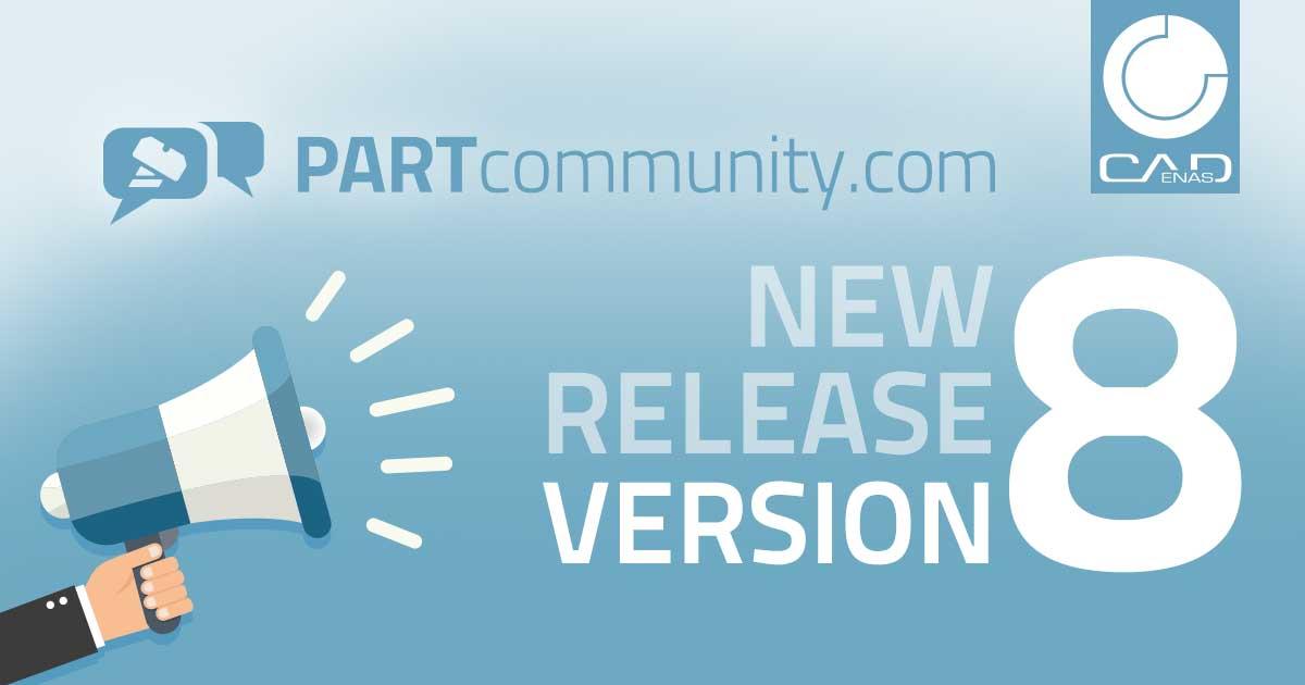 Promotionbild für die neue Version 8 der Partcommunity