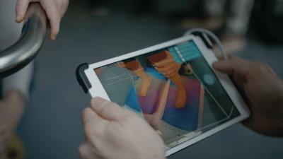 iPad von Matej, Ansicht während dem Scanvorgang