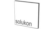 """Schriftzug """"Solukon"""" in einem Quadrat"""