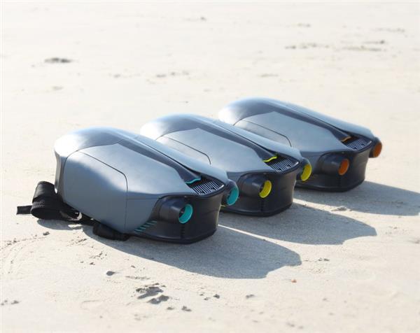 Drei Jetpacks nebeneinander liegend