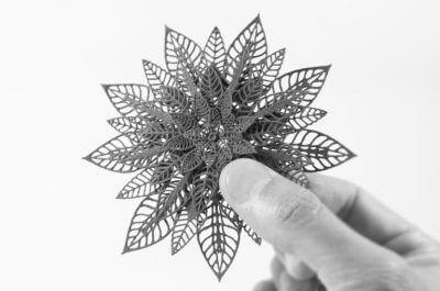 Blume aus dem 3D-Drucker