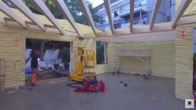 Innenansicht des Hauses im noch nicht fertigen Zustand