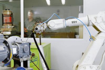 Blick auf einen Roboterarm
