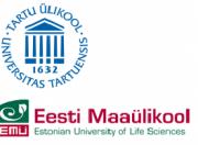 Logos der Universitäten Tartu und Emu