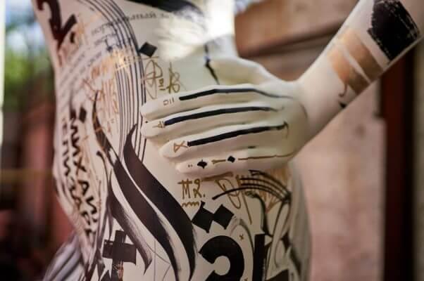 Teil der Skulptur Kopie von Lampas