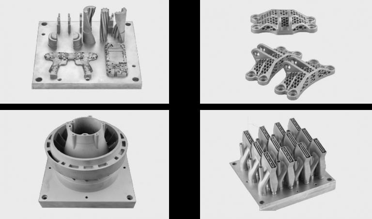 3D-Objekte gedruckt mit dem SLM250