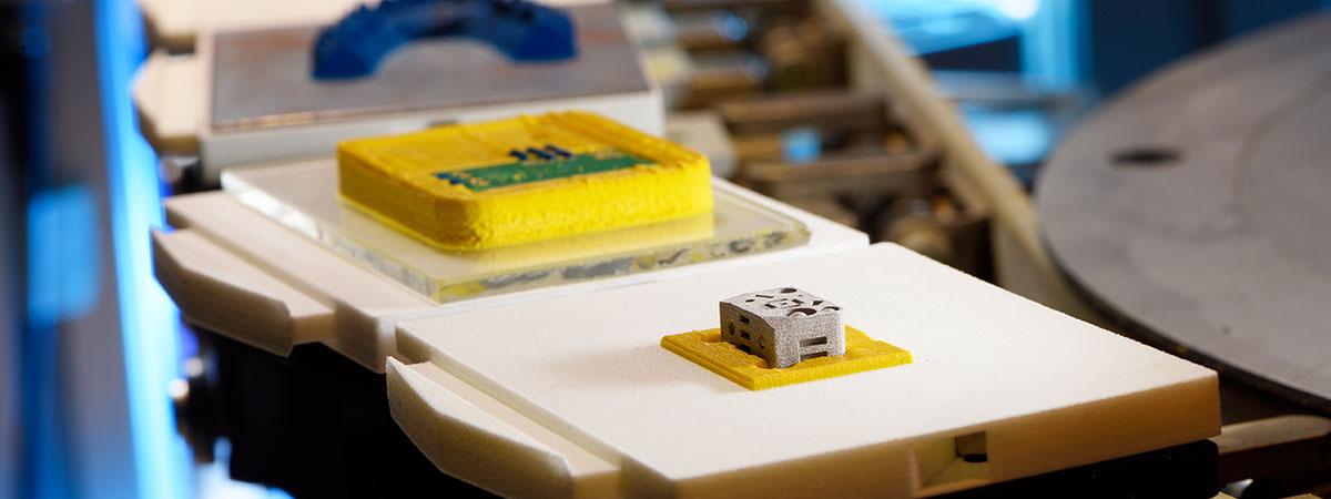 ein kleines 3D-gedrucktes Objekt