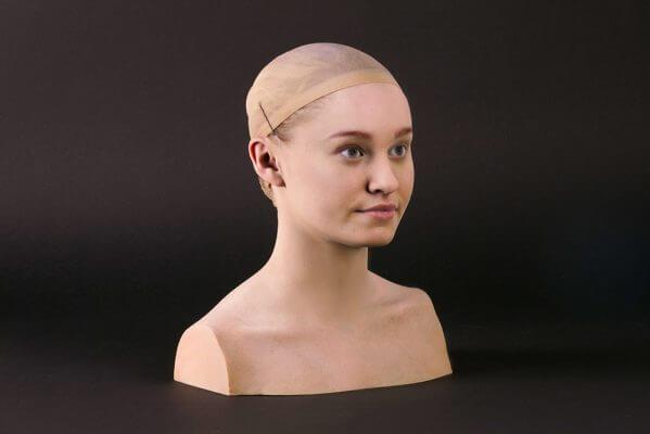 Modell eines Frauenkopfes